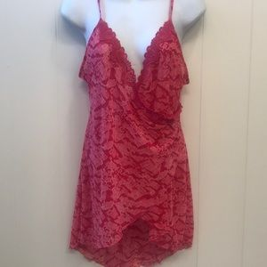 Playboy Intimates PINK Nightie Chemise Sheer Slip